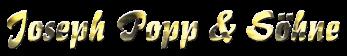 Onlineshop Joseph Popp & Söhne